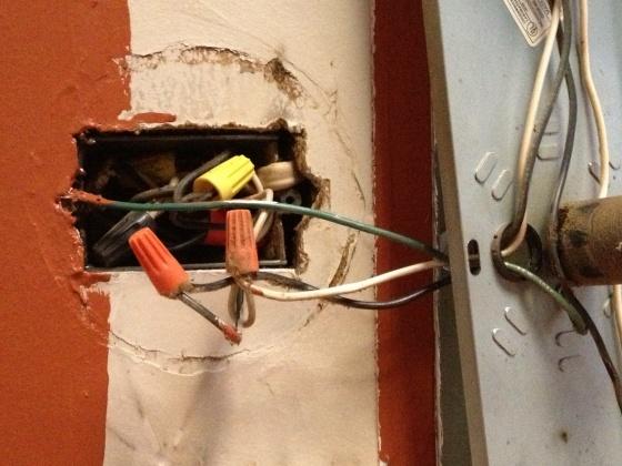 Bathroom Light Ground Wire bathroom light fixture-ground wire? - electrical - diy chatroom
