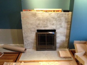 Stone Tile Over Brick Fireplace Did I Make A Mistake
