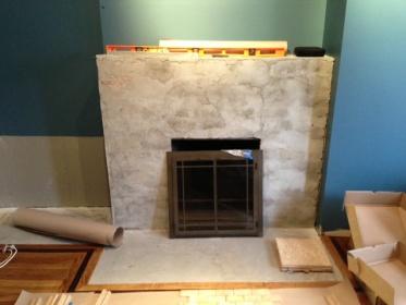 Stone Tile Over Brick Fireplace Did I Make A Mistake
