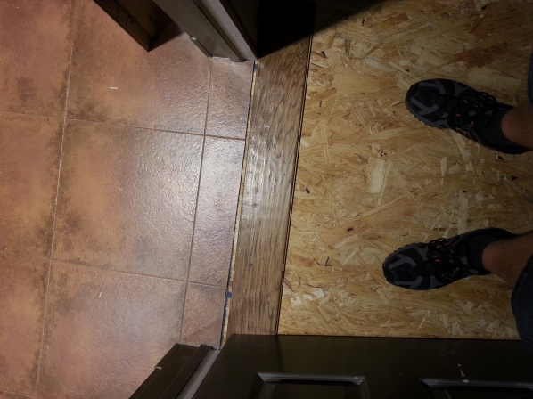 Wood To Travertine Tile Transition Flooring Diy Chatroom Home