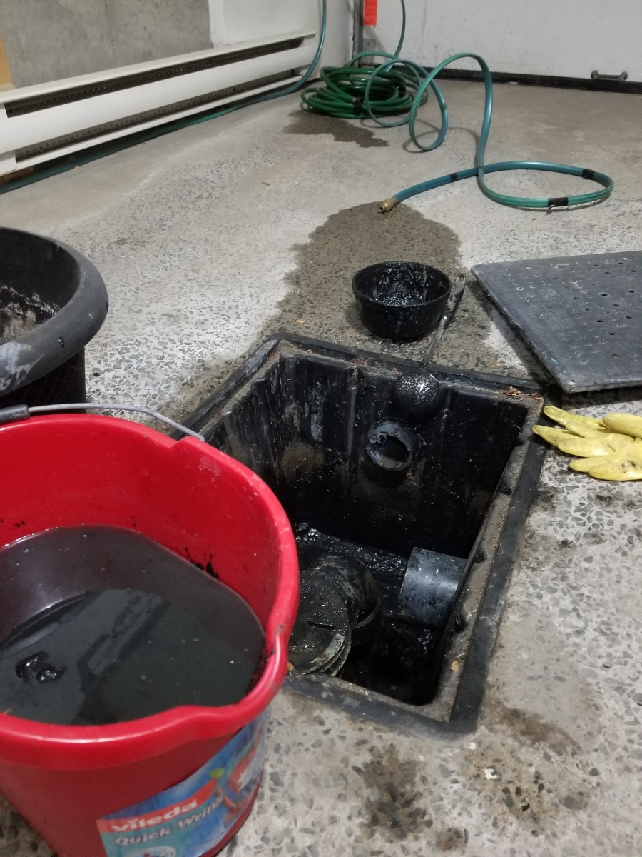 Garage Drain Or Catch Basin Plumbing