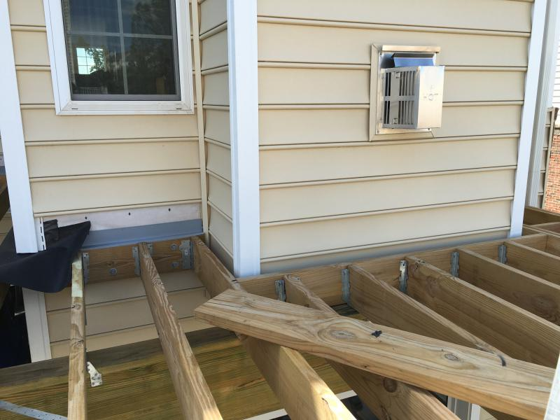 deck boards starting from house or end