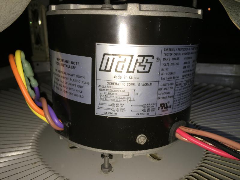 Condenser Fan Motor Installation   DIY Home Improvement ForumDIY Chatroom