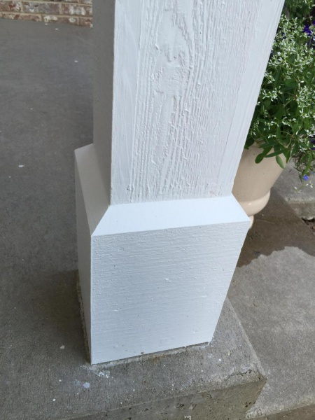 Gaps in cedar porch column - caulk or filler?-image_1467060391545.jpg