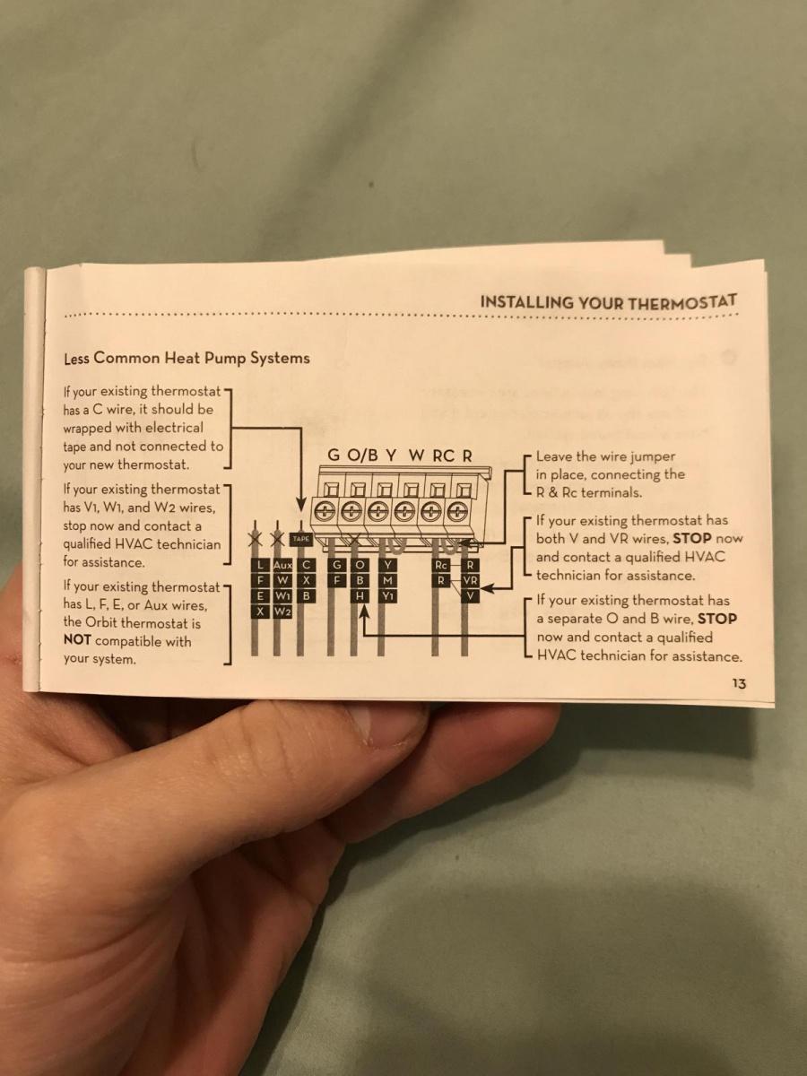 Wiring New Thermostat - Hvac