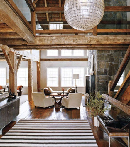 Old Distressed Exposed Wooden Beams And Concealed Wiring For ...