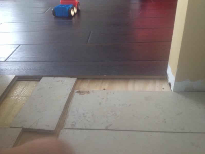 Laminate Flooring Transition To Tile : Transition From Tile To Laminate Without T-bar - Flooring - DIY ...