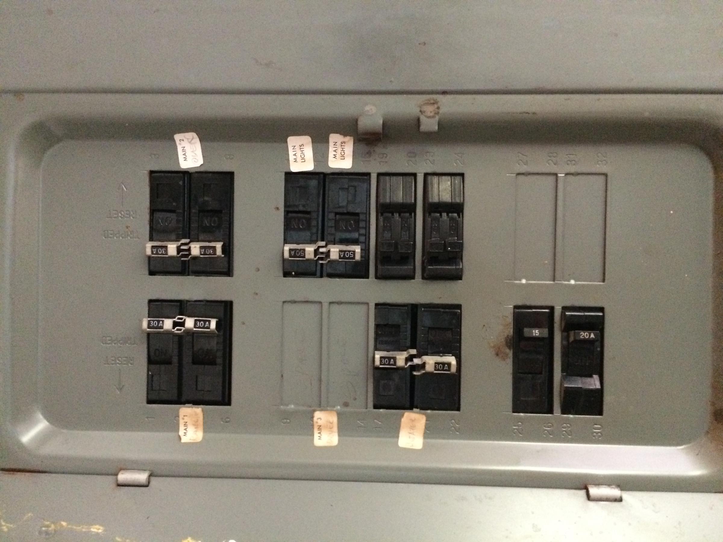 New Appliances  Circuit Breaker Panel - Electrical