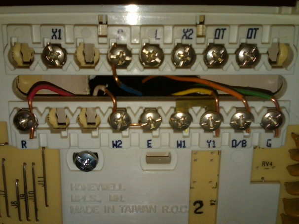wiring on hunter analog thermostat hvac diy chatroom home rh diychatroom com install analog thermostat Honeywell Mercury Thermostat Wiring Diagram
