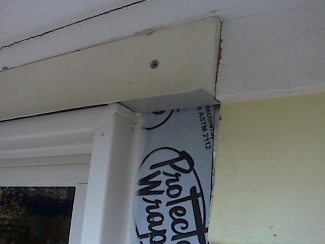 Drip Cap Necessary If There's No Siding Above Window? - Building