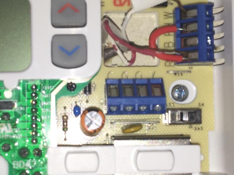 Thermostat Wiring Help - Hvac