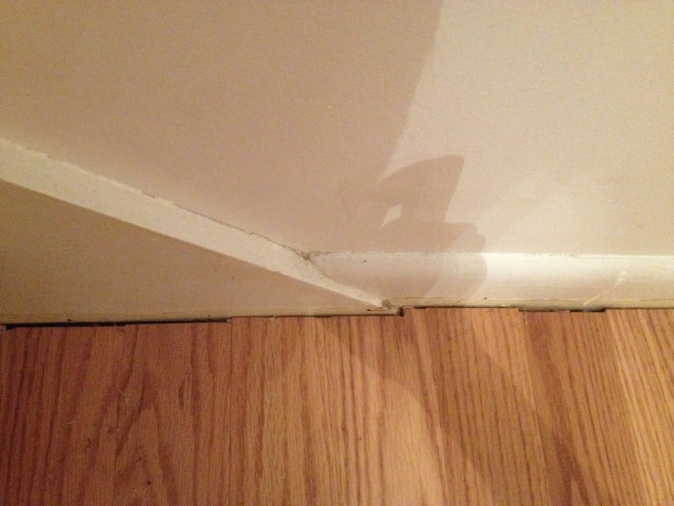 Stair Baseboard Uneven With Floor Baseboard Need To Install Quarter