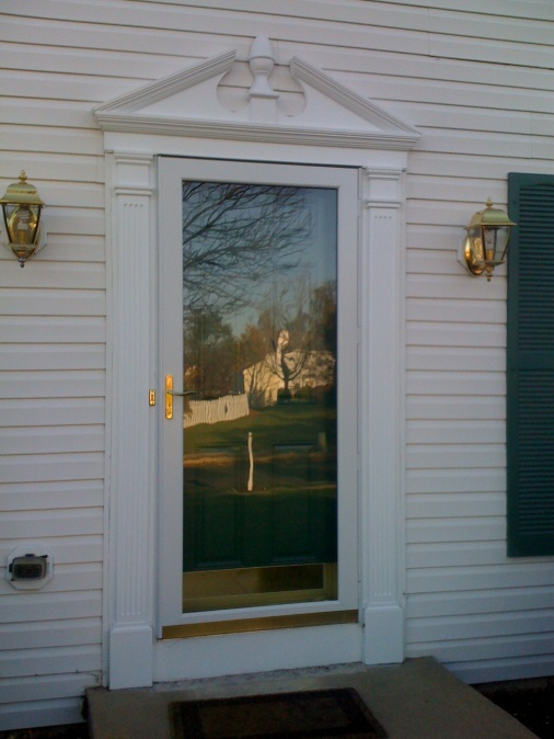 Exterior Door Trim Pediment Material? - Carpentry - DIY Chatroom ...