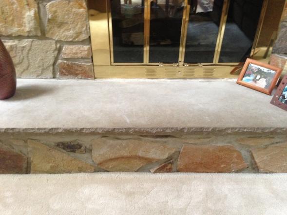 Pleasant Stone Fireplace Hearth Concrete Stone Masonry Diy Home Remodeling Inspirations Cosmcuboardxyz