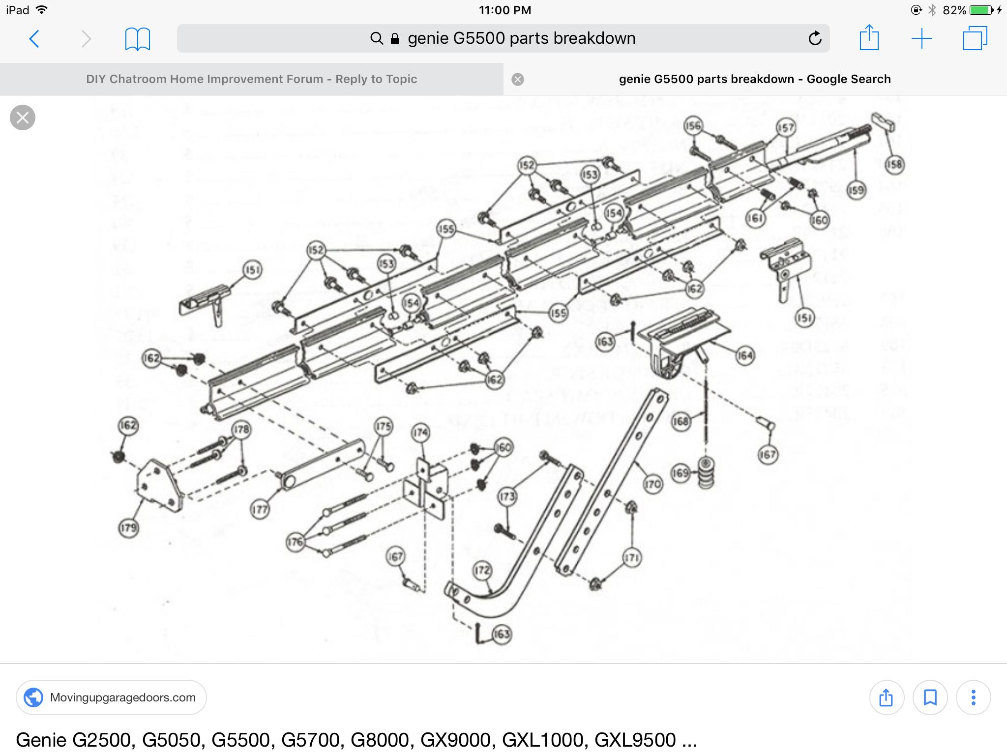 Genie Screw Drive G5500 Humming Issue General Diy