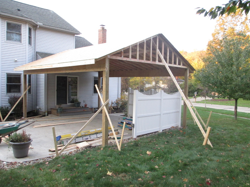 ... Roof Structure Over Existing Patio Img_0103 ...