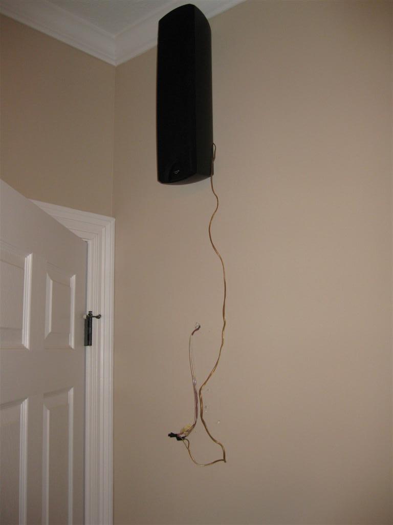 Moving Speaker Wire In Drywall Plaster Diy Chatroom Wiring Speakers Basement Img 0174