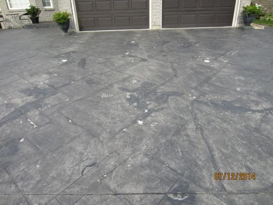 Stamped Concrete Damage Repair Concrete Stone