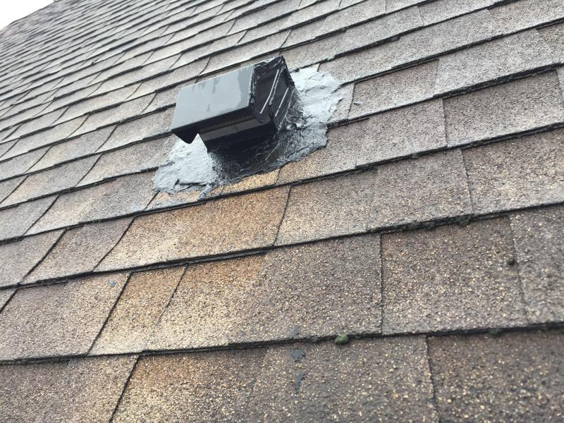 Kitchen Vent Leaking Rain Water Roofing Siding Diy