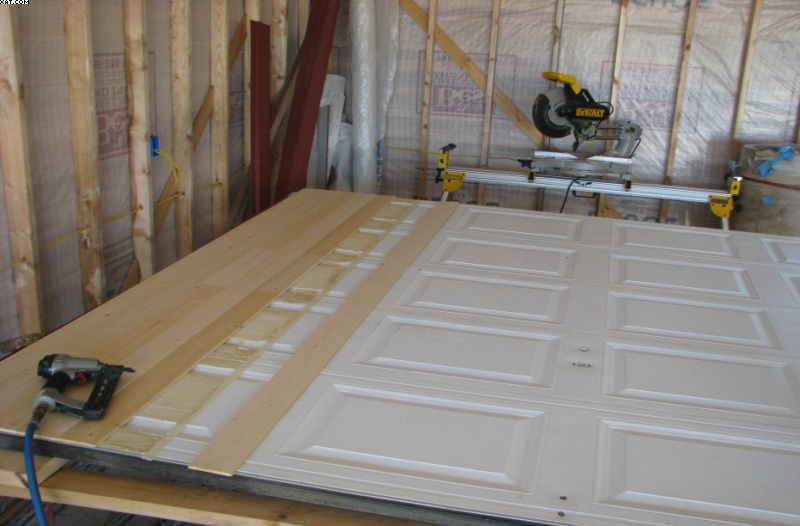 Made My Own Inexpensive Wood Garage Carriage Doors Img 0331