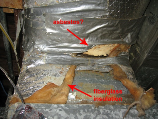 Asbestos Removal Duct : Is this asbestos insulation on ducts hvac diy
