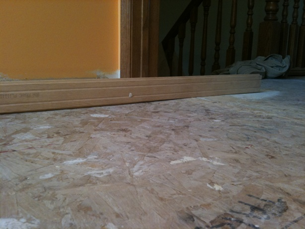 Installing hardwood uneven floor flooring diy for Hardwood floors uneven