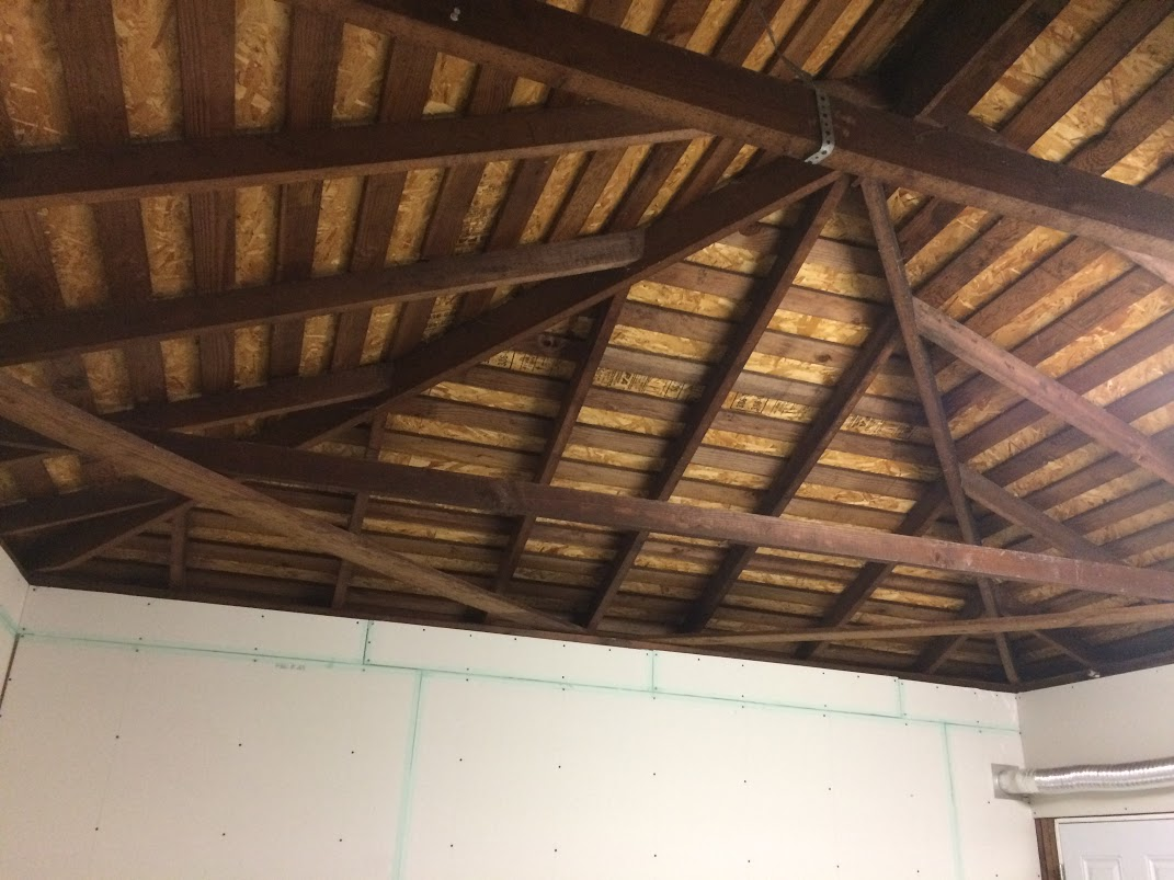 Drywall Garage Ceiling Support Beams Question Building