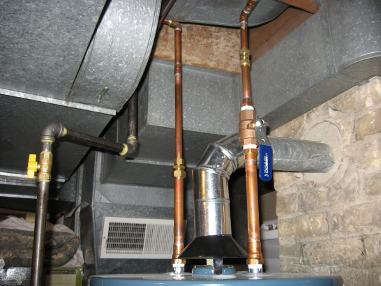 Water Connections For New Water Heater Plumbing Diy