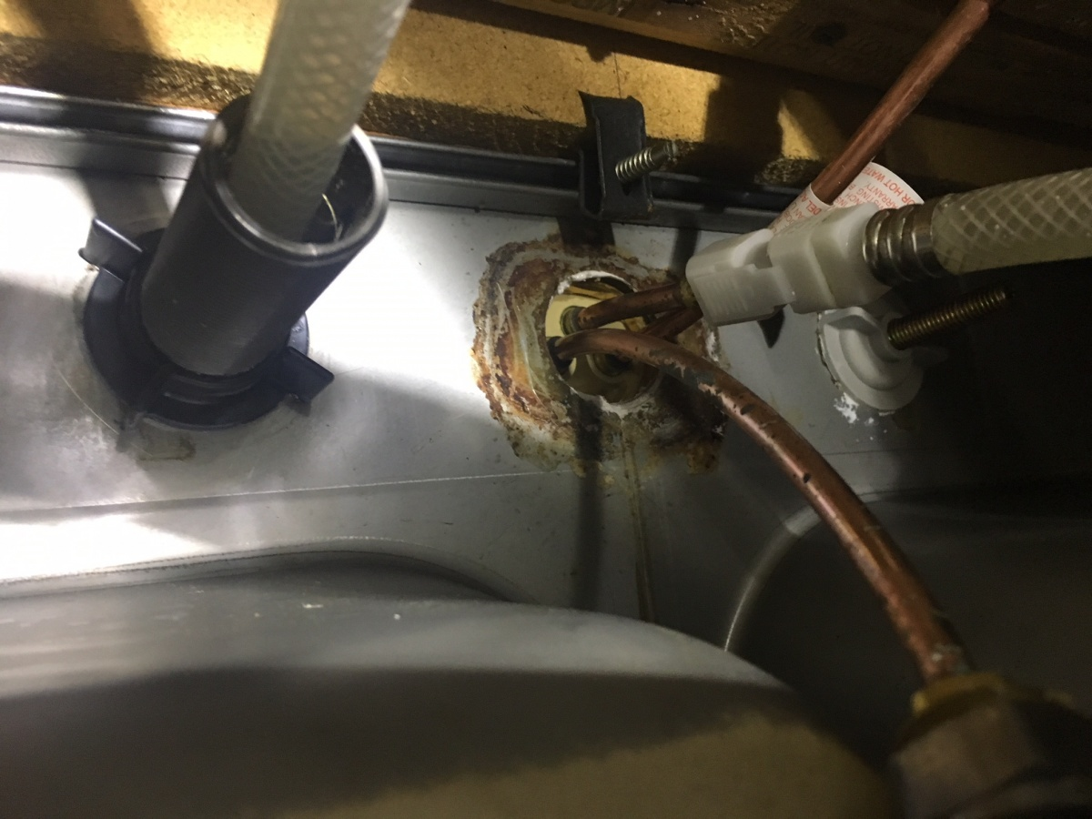 Kitchen Faucet Base Loose - Plumbing - DIY Home Improvement ...