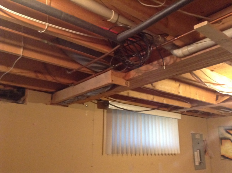 Basement Ceilings Framing Around Drains Building
