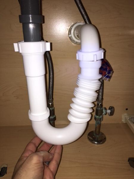 P Trap Under Bathroom Sink Not Lining Up Plumbing Diy