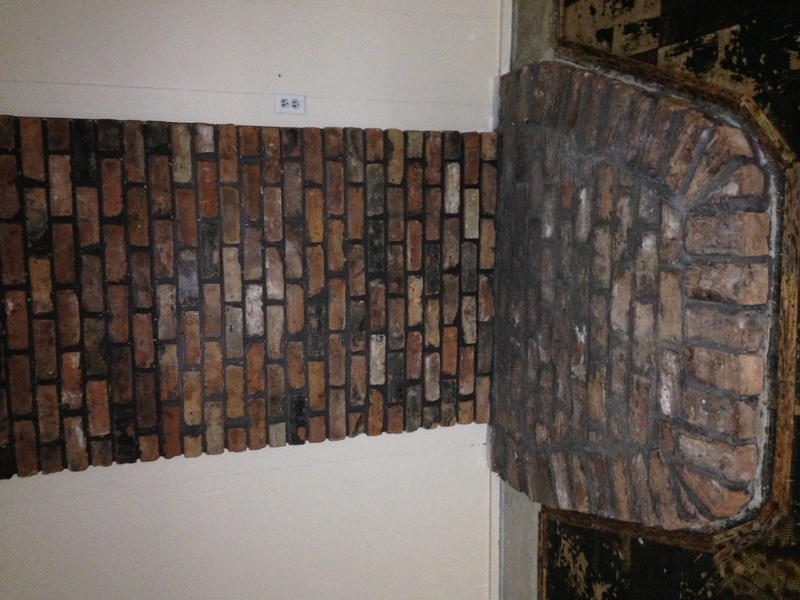 Fireplace Design removing fireplace : Removing Brick From Wood Stove Fireplace - Concrete, Stone ...