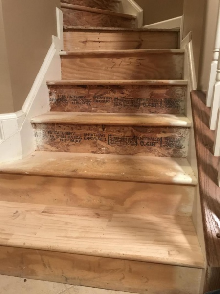 Help Hardwood And Particle Board Mix Stairs Under Carpet Flooring Diy Chatroom Home