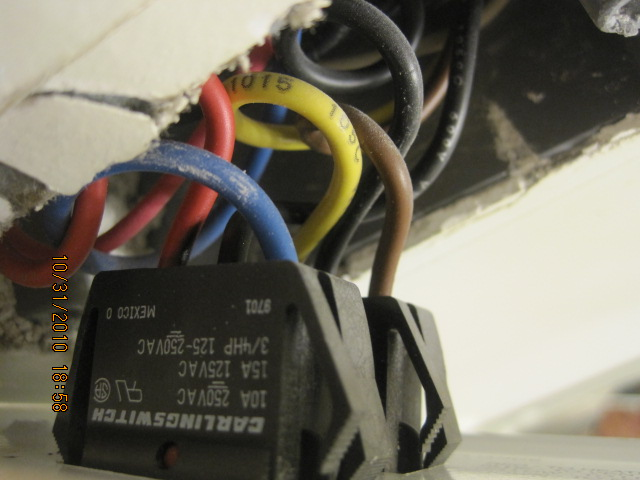 Wiring for replacing a bathroom fan, heater, light and night light unit.-img_0709.jpg