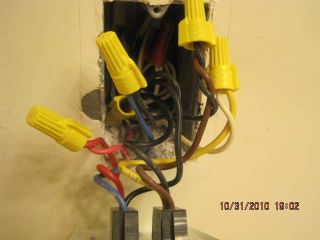 Wiring for replacing a bathroom fan, heater, light and night light unit.-img_0710.jpg