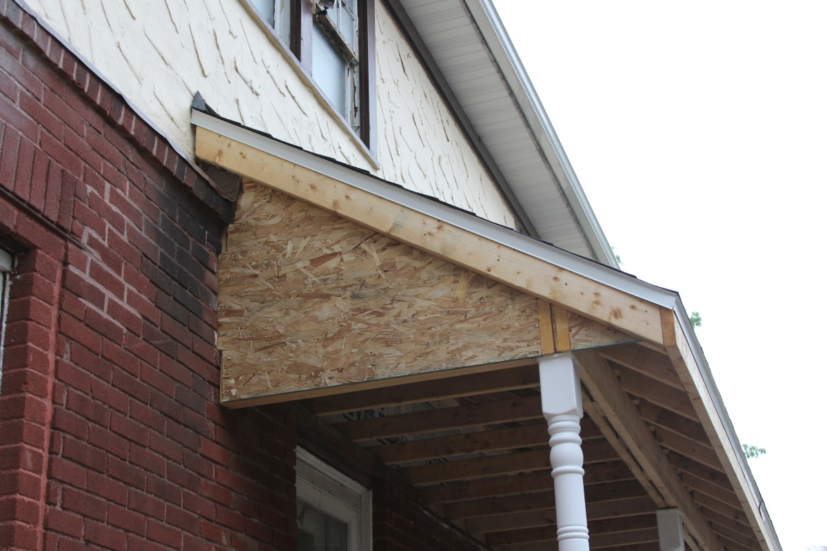 How To Soffit Finish Off Porch Roof That Is Too Low