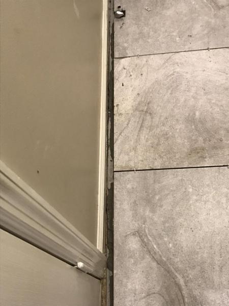 Expansion Gap Tile To Baseboard Too Big Flooring Diy