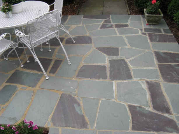 Widening Grout Joints On Slate Flagstone Patio Concrete