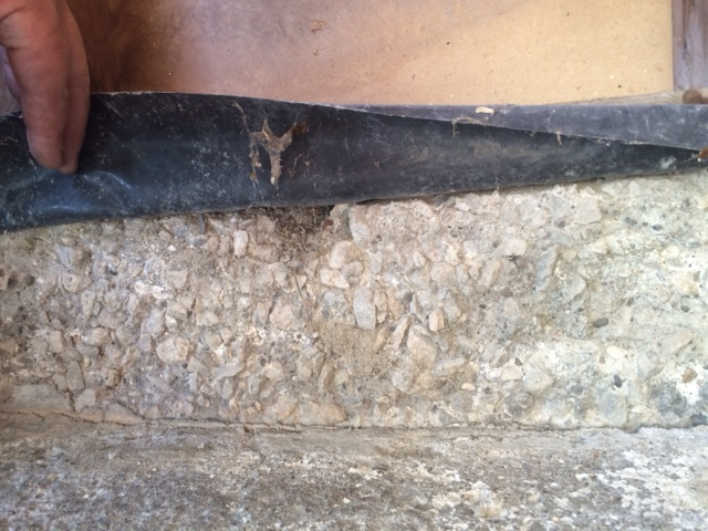 Crumbling garage concrete walls under sole plate for Crumbling concrete floor