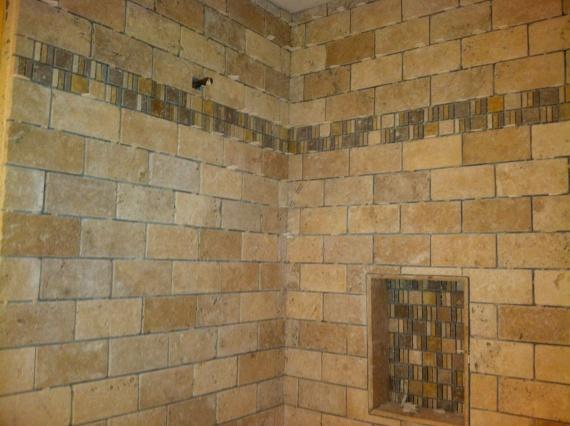 Inside Corner And Subway Brick Pattern Tile Tiling