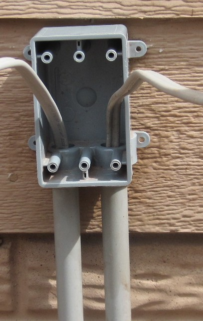 How Do I Install Outdoor Junction Box Diy Home Improvement Forum