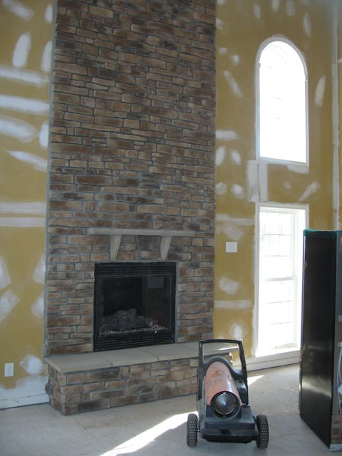 Placing An LCD TV Above A Stone Faced Fireplace? - Building ...