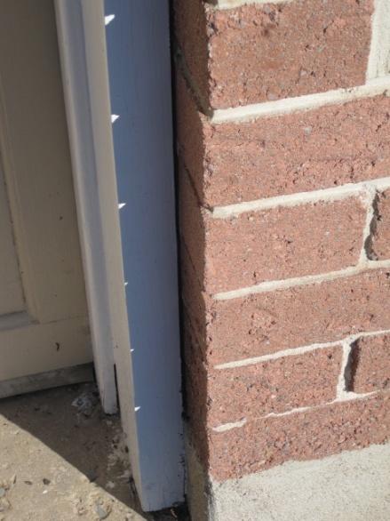 Wooden Garage Door Frame Caulking Building