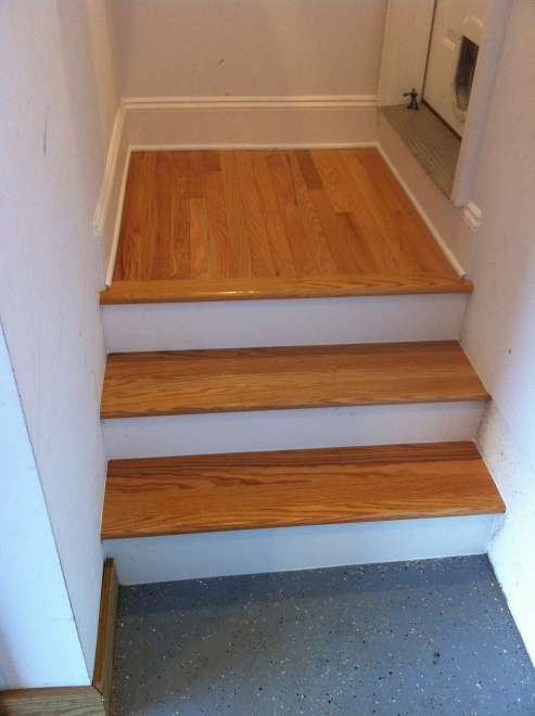 ... How To Finish Basement Stairs Img_1566
