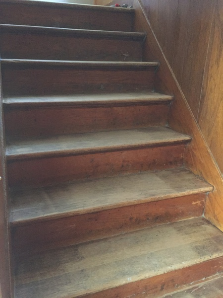 Delicieux ... Refinishing Very Old Hardwood Stairs Img_1586