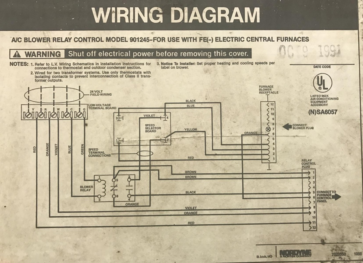 Nordyne Electric Furnace Wiring Diagram from www.diychatroom.com
