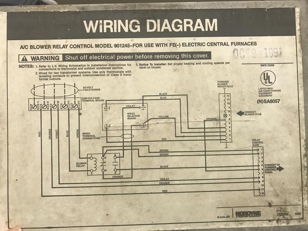 Old Nordyne Furnace Wiring Diagram