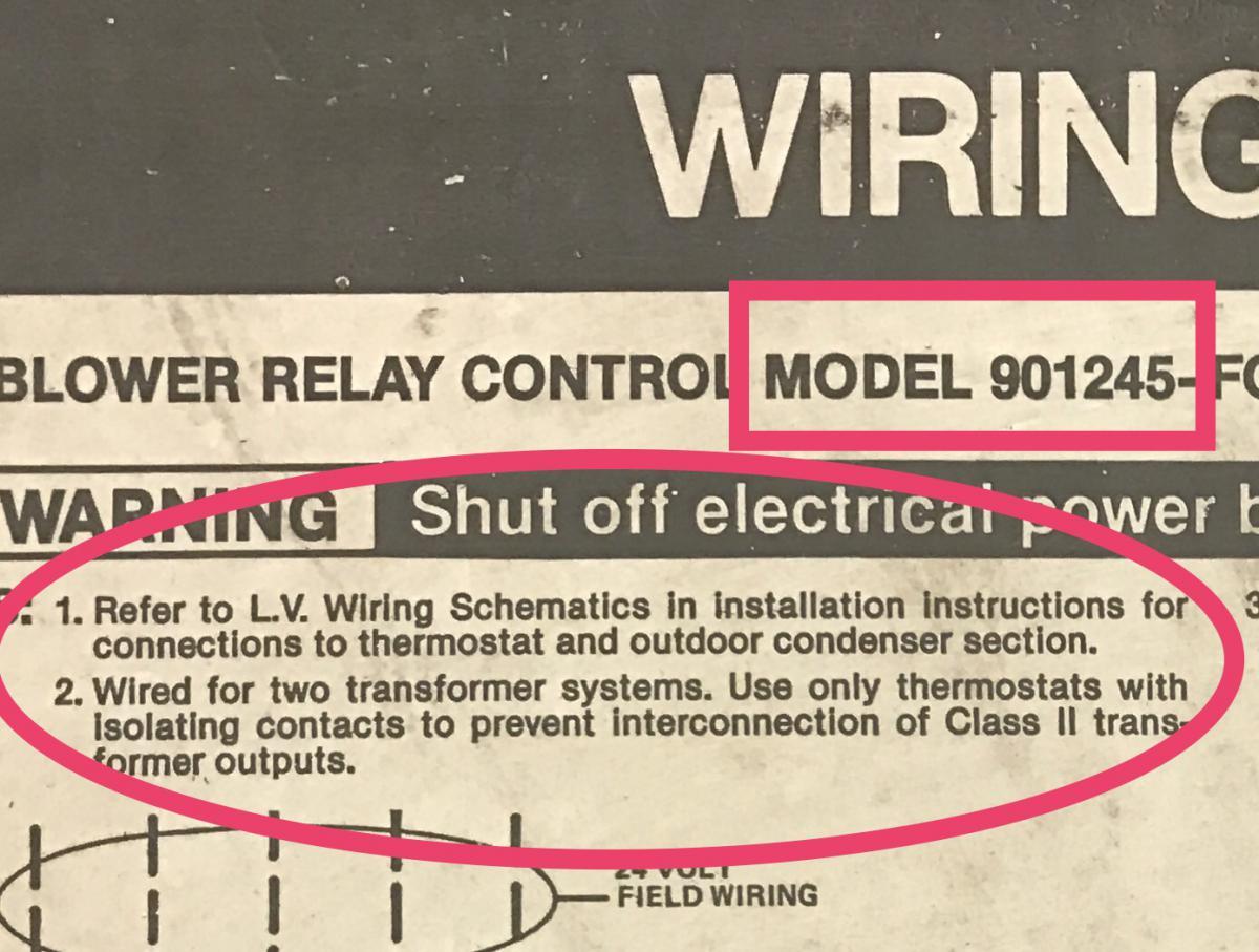 1991 Intertherm Nordyne Furnace With Added Ac Split System Hvac Thermostat Wiring Diagram Besides Honeywell Img 1612 1504814218308