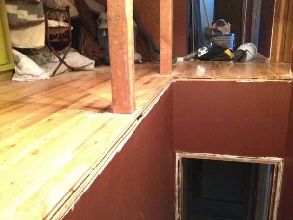 Remove existing hardwood planks to replace with tread-img_1636.jpg