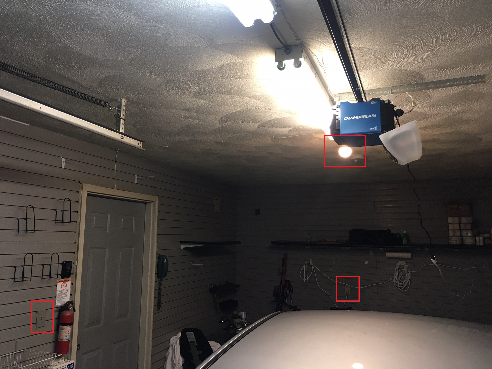 Installing Outlet Or Hardwiring Garage Door Opener